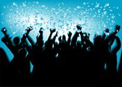 Festival crowd Stock Illustration