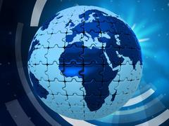 world background showing backgrounds worldly and globalise - stock illustration
