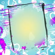 frame paper showing empty space and affection - stock illustration