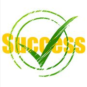 success tick indicating confirm successful and triumph - stock illustration
