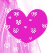 hearts background representing valentines day and backgrounds - stock illustration
