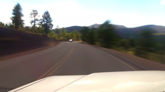Viewpoint Driving In Sunset Crater National Monument- Fast Motion Stock Footage