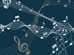 Notes background representing music sheet and backdrop Piirros