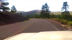 Viewpoint Driving In Sunset Crater National Monument Stock Footage