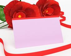 Stock Illustration of gift card representing find love and greeting