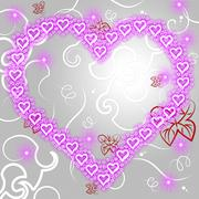 Stock Illustration of heart background showing valentine day and affection