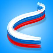 Flag russia representing destination patriot and nationality Stock Illustration