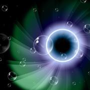 twirl space indicating glaring illuminated and glow - stock illustration