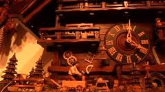 Cuckoo clock, cucu' Stock Footage