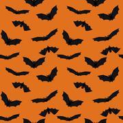 Flying bats Stock Illustration