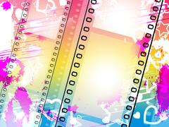 Background filmstrip meaning empty space and design Stock Illustration