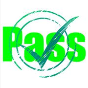 pass tick meaning checkmark passed and mark - stock illustration