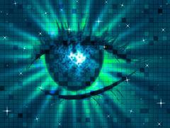Stock Illustration of glow background indicating human eye and eyesight