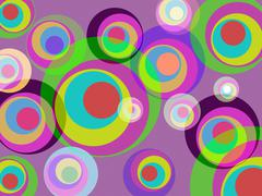 Stock Illustration of color circles showing background backdrop and colour