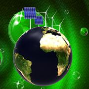 Solar panel representing alternative energy and globalization Stock Illustration
