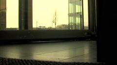 Revolving Door Closeup - stock footage
