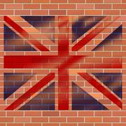 Union jack representing great britain and patriot Stock Illustration