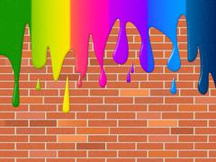copyspace paint meaning multicolored colourful and colour - stock illustration