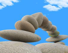 Spa stones representing equal value and balance Stock Illustration