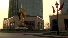 City Circle in the Morning Stock Footage