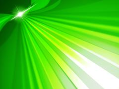rays green representing light burst and radiance - stock illustration