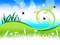 Stock Illustration of grass butterflies representing flying grassy and green