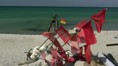 Summer Day at Ahrenshoop Beach - Baltic Sea, Northern Germany Stock Footage