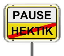 pause-hektik - stock illustration