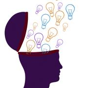 Think idea meaning inventions contemplating and contemplate Stock Illustration