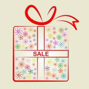 Stock Illustration of sale gifts representing promotional promotion and package