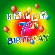 Happy birthday indicating celebrate joy and congratulating Stock Illustration