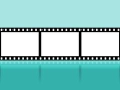 copyspace filmstrip showing cinematography photographic and photograph - stock illustration