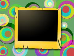 Stock Illustration of photo frames showing photograph colors and ring