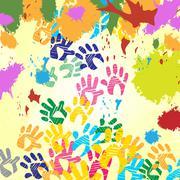 Splash handprints meaning artwork splat and blob Piirros