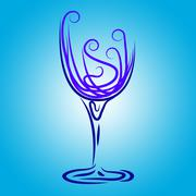 wine glass meaning celebration wineglass and drink - stock illustration