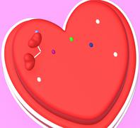 cake heart showing valentine's day and affection - stock illustration