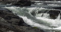 4k, beautiful pan of a norwegian stream, norway Stock Footage