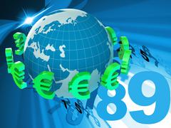 Euros forex indicating currency exchange and broker Stock Illustration