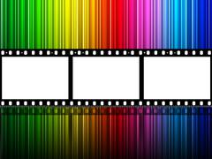 Stock Illustration of spectrum filmstrip meaning text space and celluloid