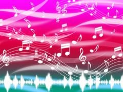 Music background means blues classical and melody. Stock Illustration