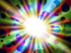 Stock Illustration of brilliant dots background shows round shapes and light.