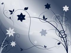Stock Illustration of elegant floral background shows delicate blooming or spring.