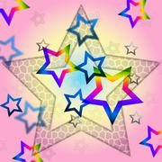Stock Illustration of pink stars background shows space astronomy and celestial.