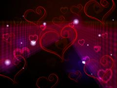 hearts background shows love affection and adoring. - stock illustration