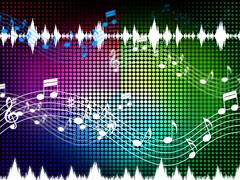 music color background shows sounds harmony and singing. - stock illustration