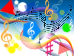 Music background shows harmony or playing tune. Stock Illustration