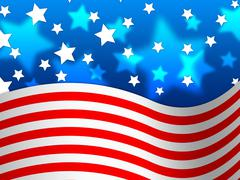 Stock Illustration of amercian flag background means stripes and stars.