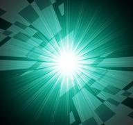 Brightness background means radiant glow and rectangles. Stock Illustration