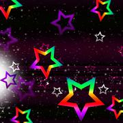 Stars space background shows heavenly bodies and brightness. Stock Illustration