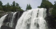 4k, huge waterfall, norway Stock Footage